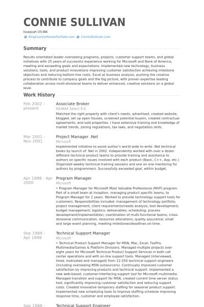 Associate Broker Resume samples - VisualCV resume samples database