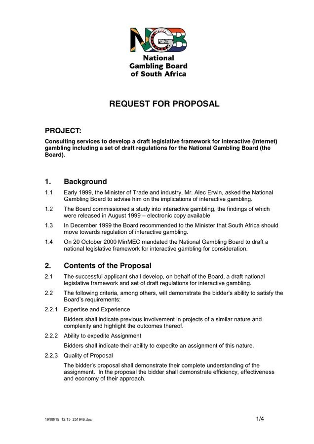Request for Proposal Template - download free documents for PDF ...