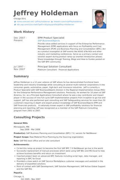 Product Specialist Resume samples - VisualCV resume samples database