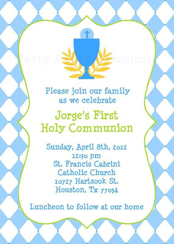 First Communion Invitation | christmanista.com