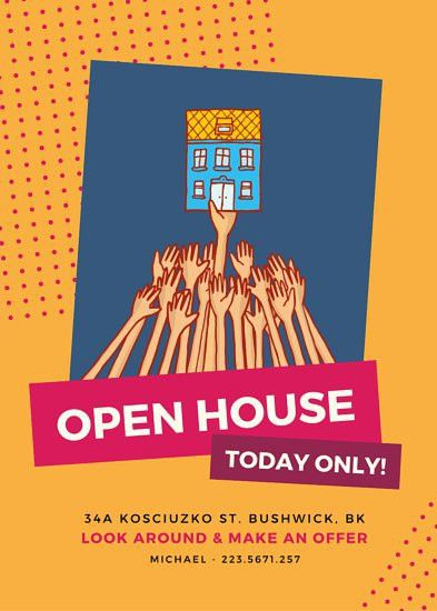 Open House Event Flyer - Templates by Canva