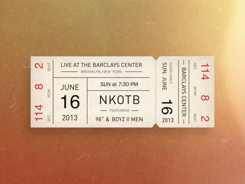 Concert Ticket by Eric Cleckner - Dribbble