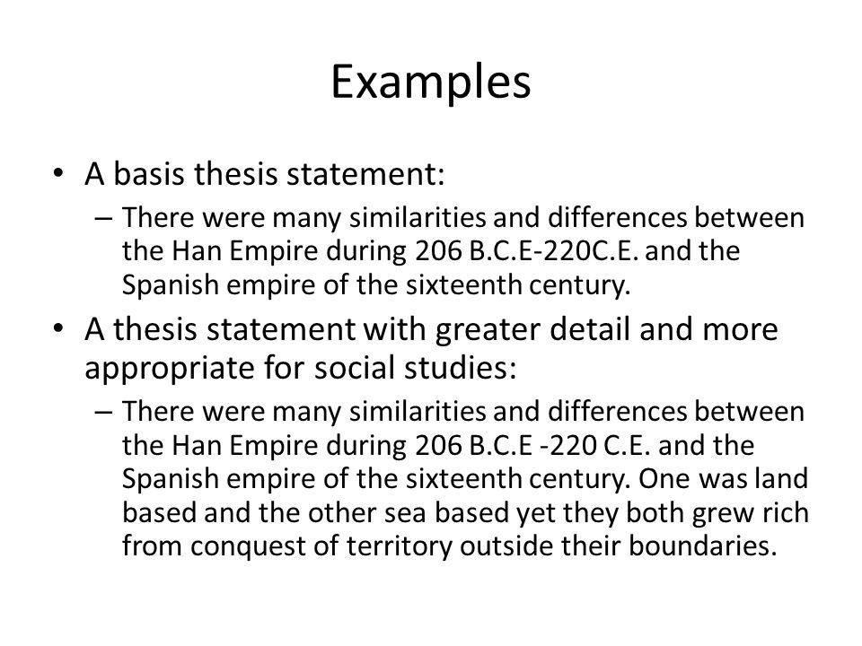 Thesis Statements in Social Studies - ppt video online download