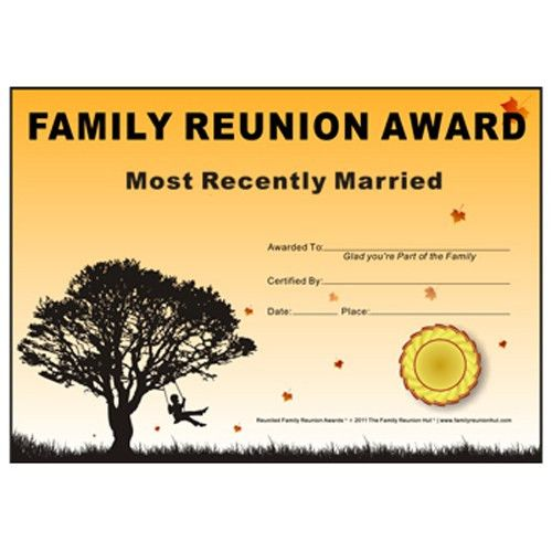 Family Reunion Hut - Most Recently Married Award: Down South Theme ...
