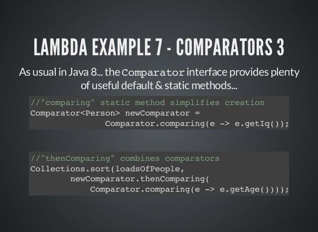 Java 8 by example!