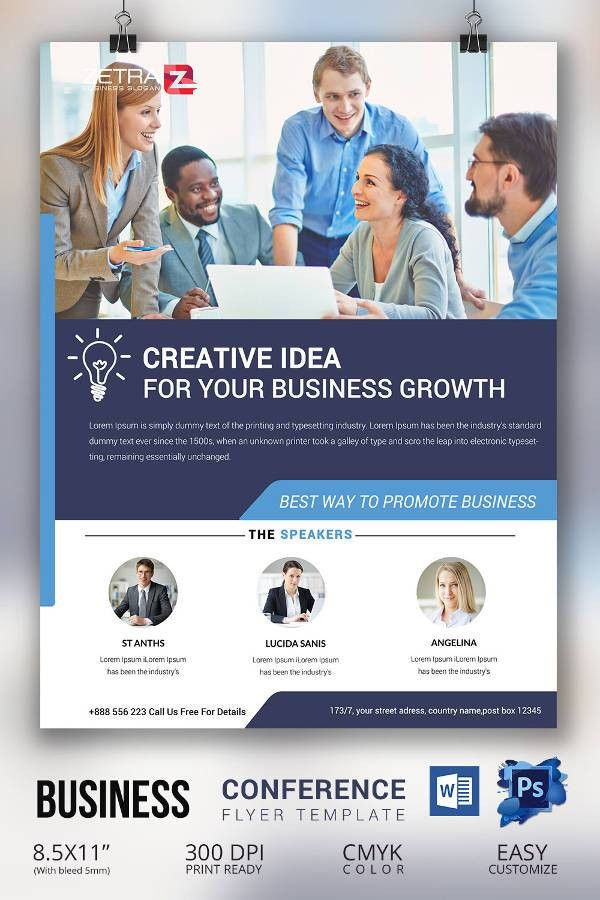 Conference Brochure Template. Expectations Conference Bifold ...