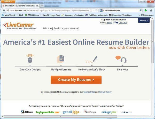 resume livecareer login