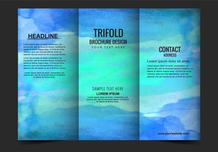 Free Vector Modern Trifold Brochure Template - Download Free ...