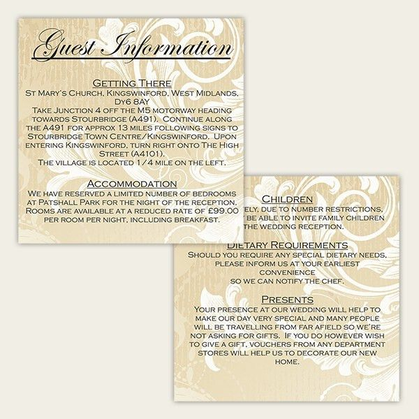 Wedding Card Design : Unique Style Stunning Wedding Information ...