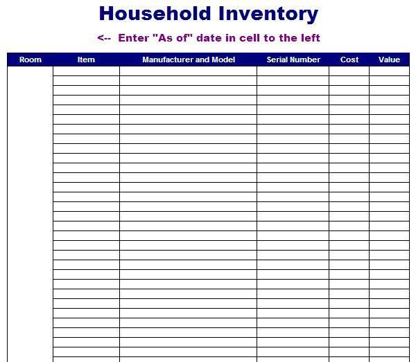 Best Photos of Inventory Worksheet Template - Blank Excel ...