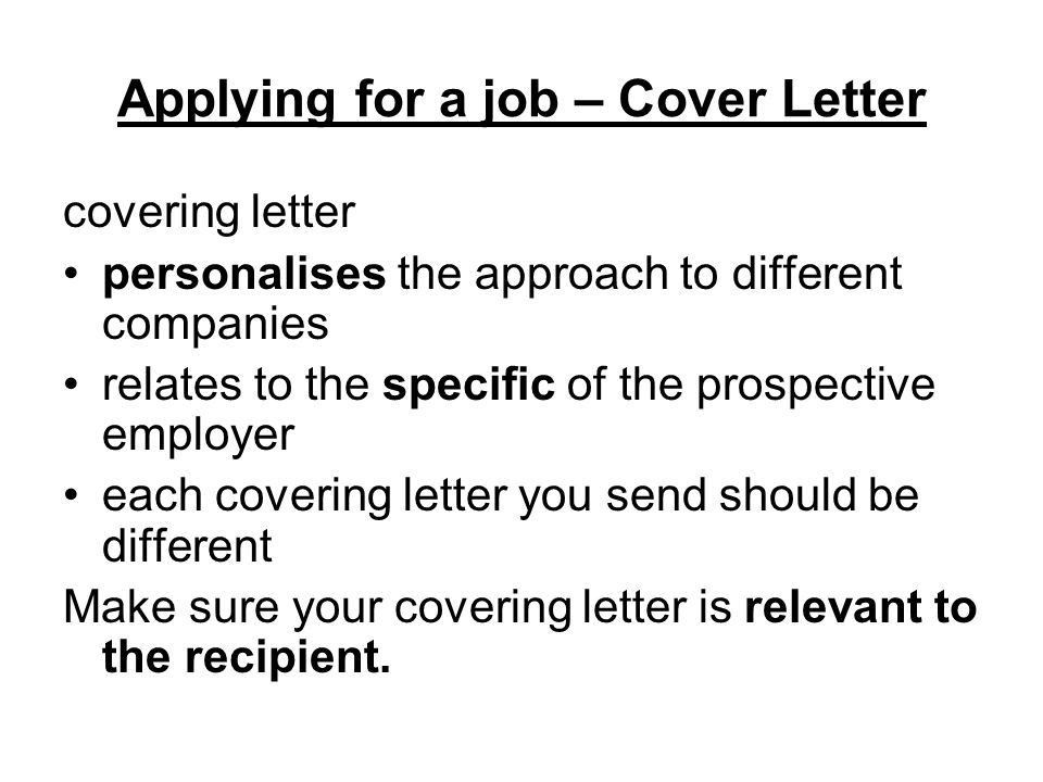 Applying for a job. - ppt download