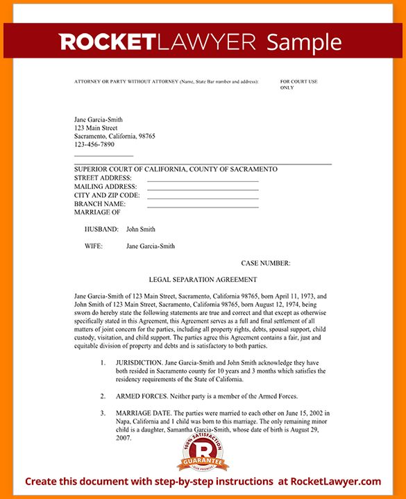 10+ separation agreement template | Letter Template Word