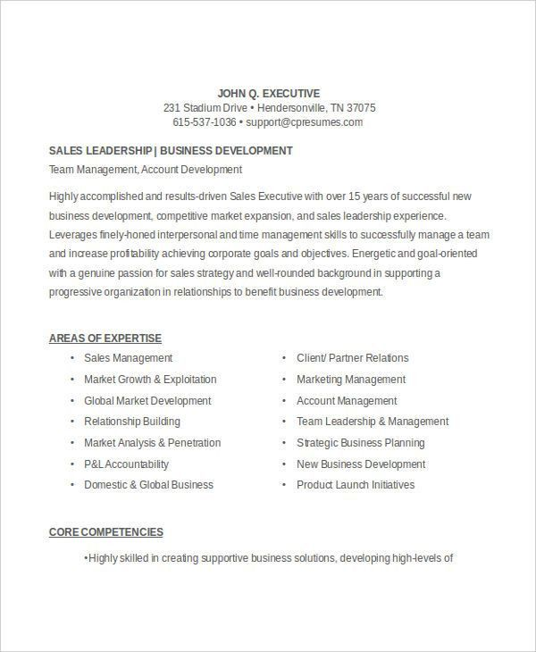 59+ Executive Resume Templates | Free & Premium Templates
