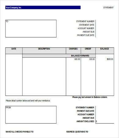 8+ Bank Statement Templates - Free Sample, Example Format Download ...