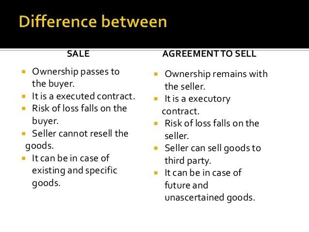 Differences Contract Agreement. 5 Sale And Agreement To Sell Other ...