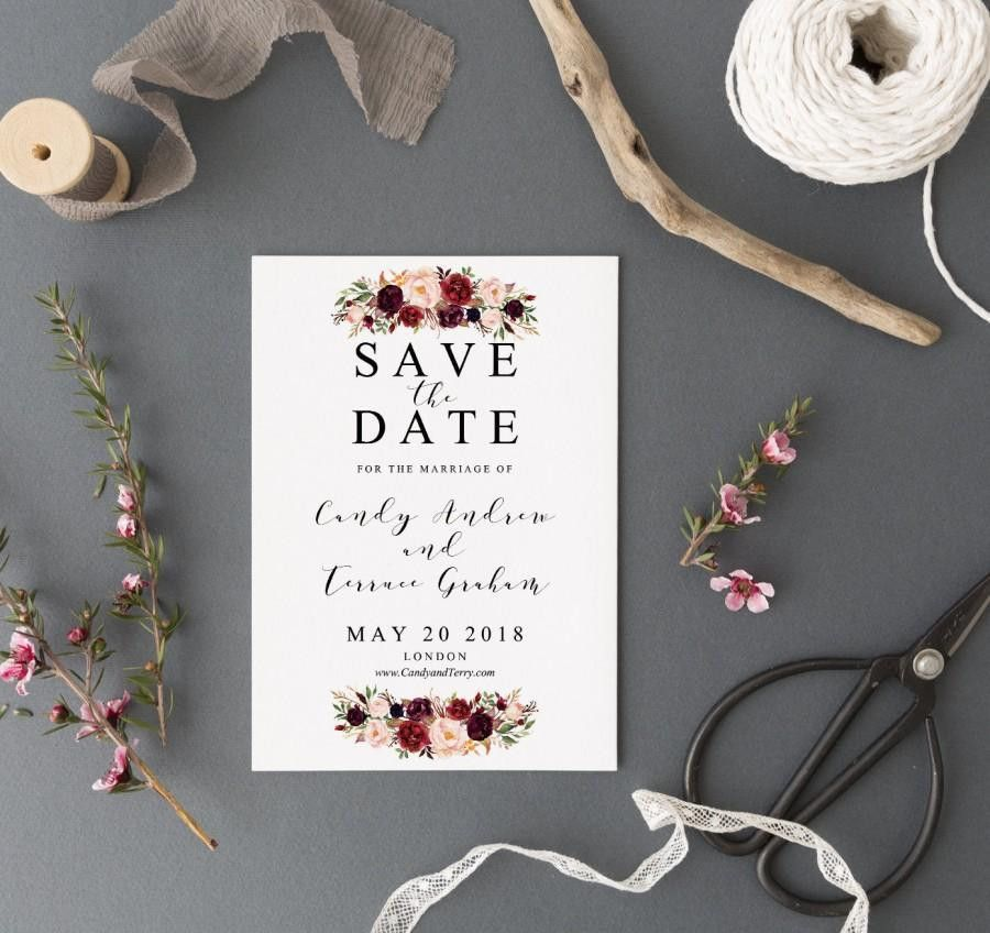 Save The Date Template Printable, Save The Date Postcard Template ...