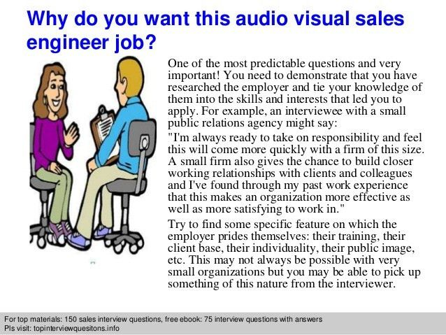 Audio visual sales engineer interview questions and answers