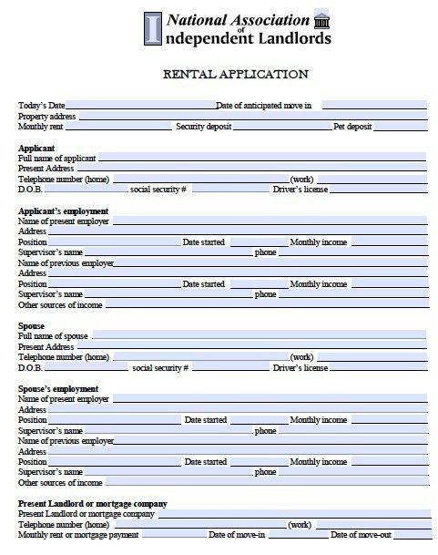 Free Minnesota Rental Application – PDF Template