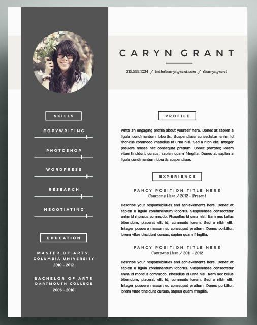 Beautiful Resume Templates to take into 2016 | Lisa Marie Boye ...