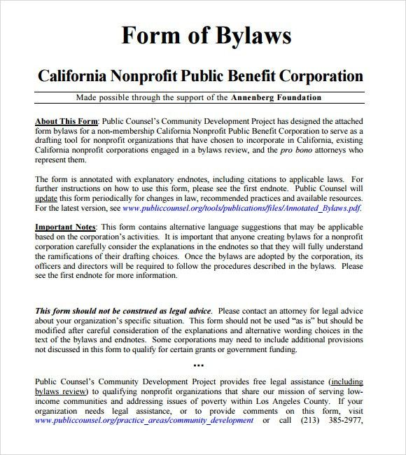 Sample Bylaws Template - 6+ Free Documents in PDF