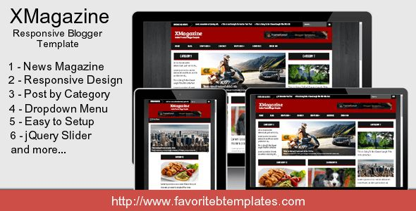 XMagazine - Responsive Blogger Template by fbtemplates | ThemeForest