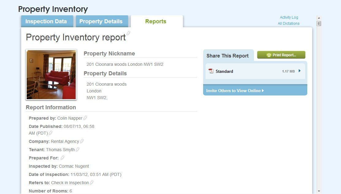 Rental Property Inventory - Compile inspection reports & save ...