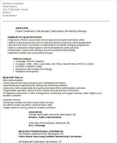 Safety Coordinator Resume Singapore. hotel manager cv template job ...