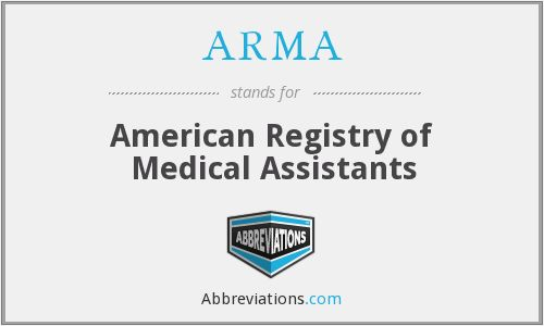 arma medical assistant certification