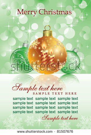 Christmas Card Green Christmas Tree Toys Stock Vector 529059424 ...