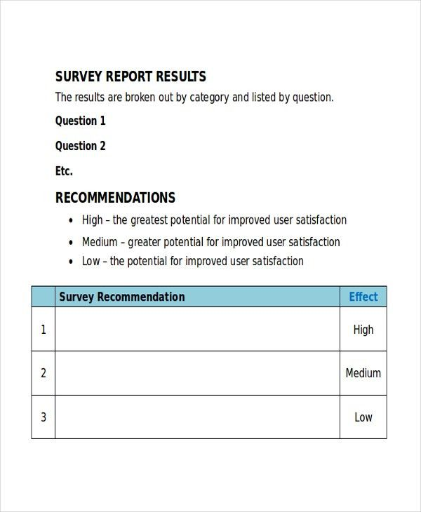 17+ Survey Templates - Free Sample, Example, Format | Free ...