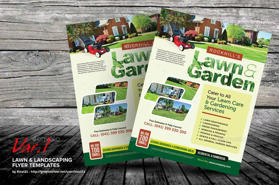 Lawn & Landscaping Flyer Templates by kinzi21 | GraphicRiver