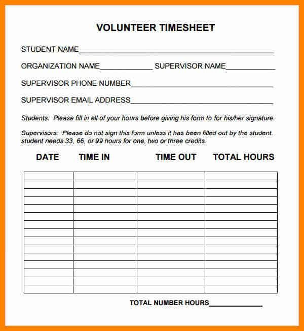 7+ community service hours form template | job resumed