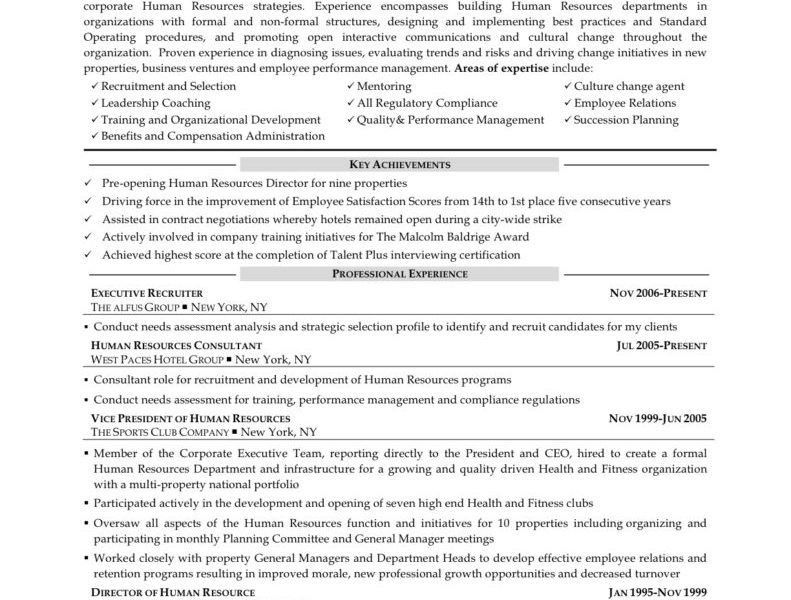 Human Resources Resume Objective - Resume Example