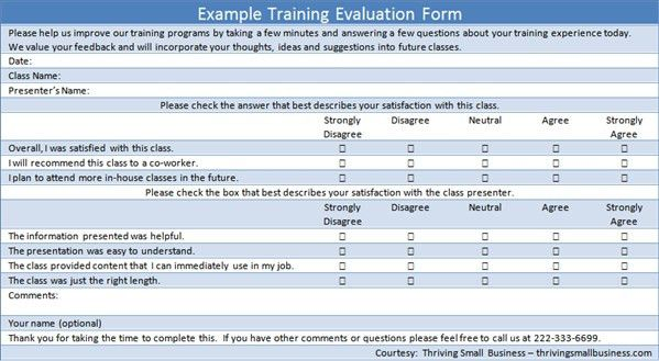 seminar feedback form template