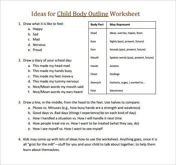 Body Outline Template – 21+ Free Word, Excel, PDF Format Download ...