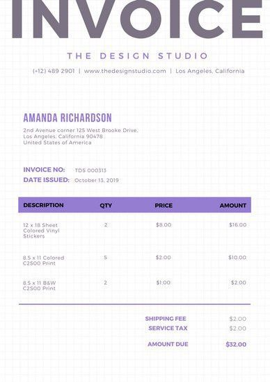 Oldlace Simple Invoice Letterhead - Templates by Canva