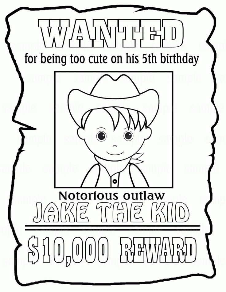 Wanted Poster Coloring Page - Coloring Home