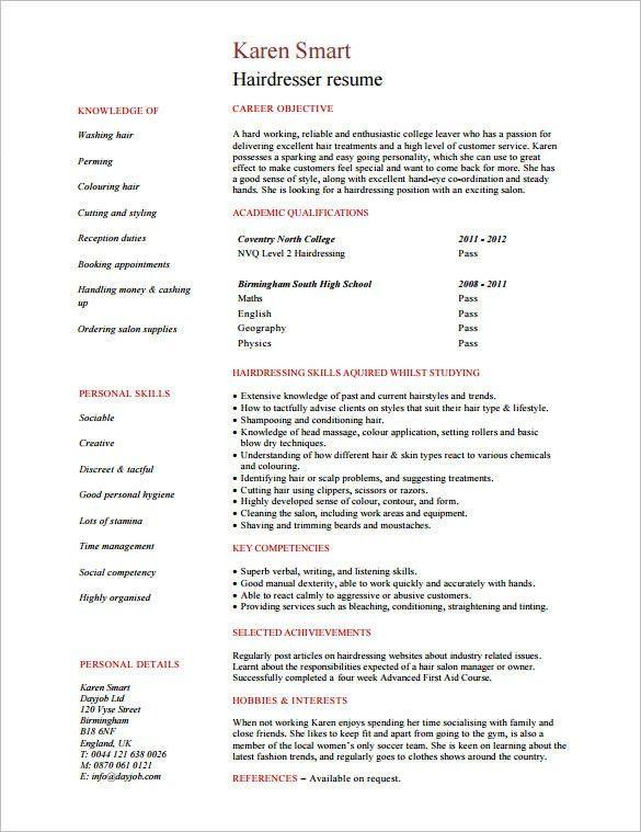 hair stylist resume template professional hair stylist templates