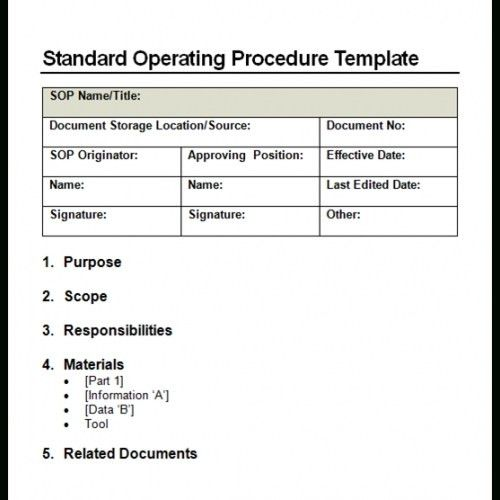 9+ Standard Operating Procedure (Sop) Templates – Word Excel Pdf ...