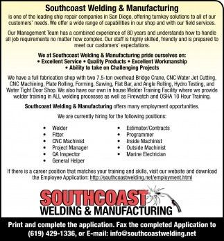 Southcoast Welding And Manufacturing, Southcoast Welding And ...