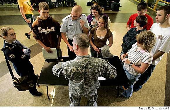 Fight over Army recruiters at schools - SFGate
