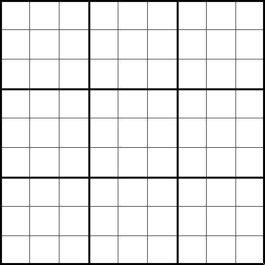Free Sudoku Blank Forms   Sudoku printable grids - Toronto: Art ...