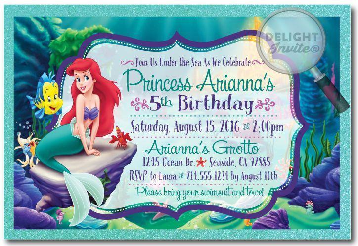 Little Mermaid Birthday Invitations » Birthday Invitations Templates
