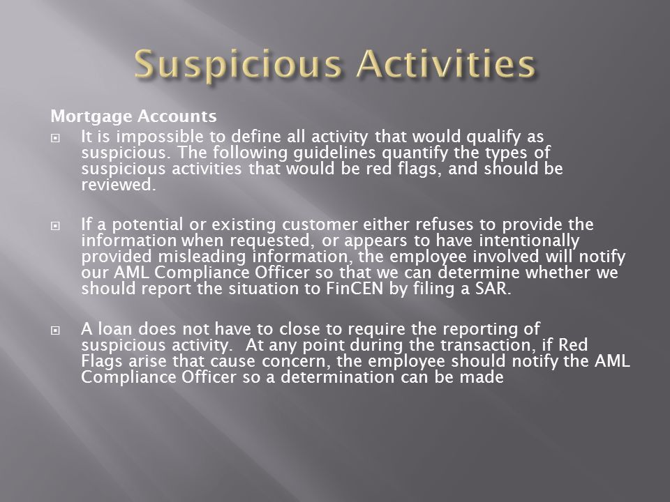 Anti-Money Laundering, Suspicious Activity Report and Fraud Policy ...