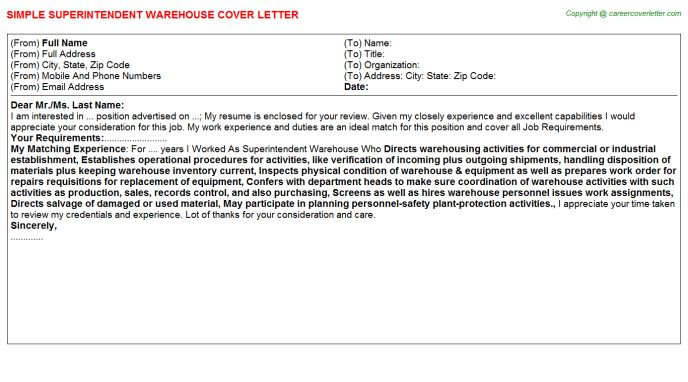 Warehouse Freight Handler Cover Letters
