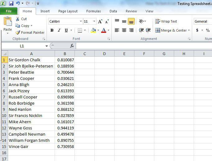 How To Sort A List Randomly In Excel | Lifehacker Australia