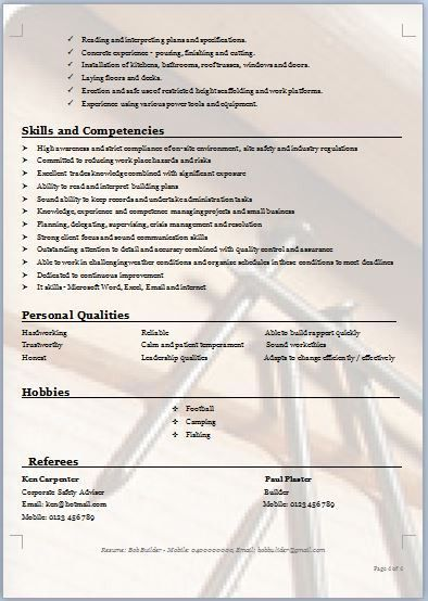 carpenter resume example carpenters union resume professional ...