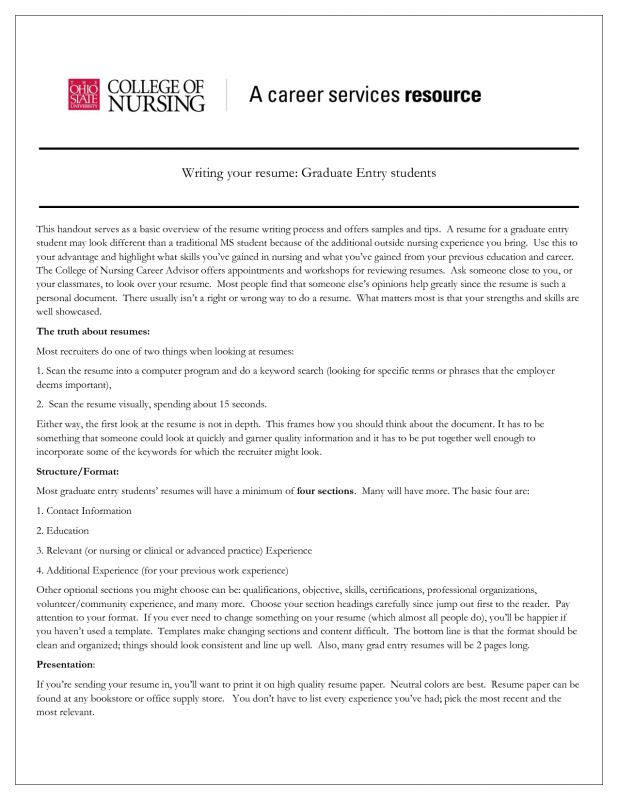 new graduate nurse resume examples new registered nurse resume
