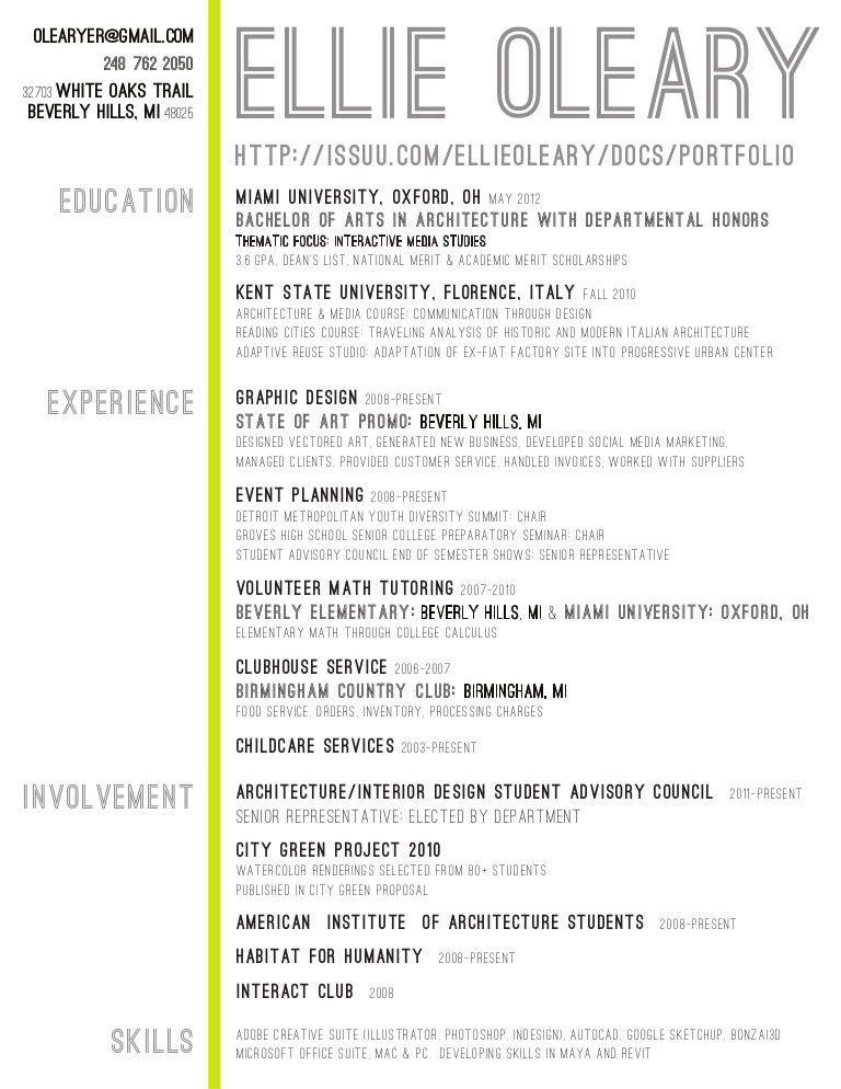 interior design resume - Google Search … | Pinteres…