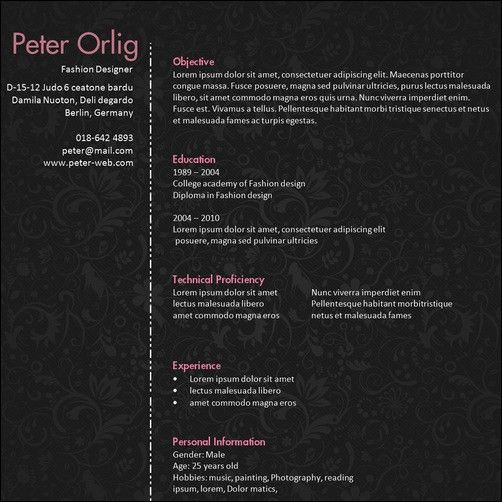 example graphic design resume best designed resumes 10 eye ...